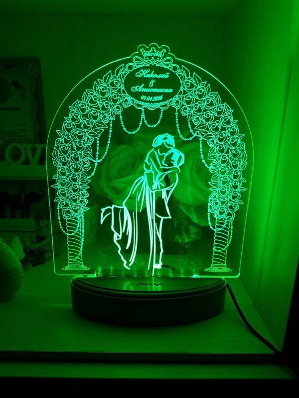 چراغ خواب سه بعدی, عروس و داماد